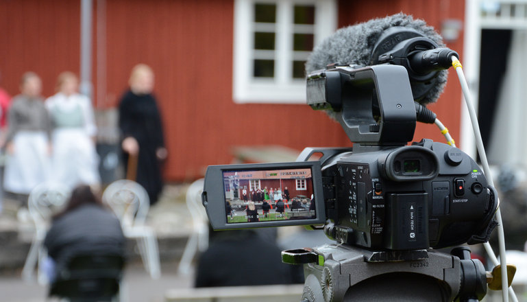 En filmkamera.
